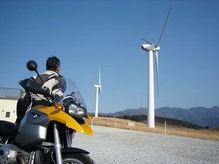 風車を望む