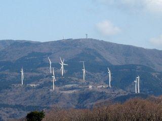 多数の風車が!