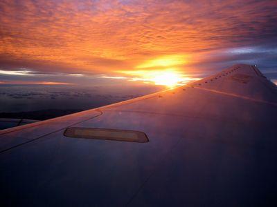 ANA758便の窓から