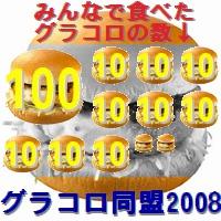 2008年は192個でした。ごちそうさまでした!