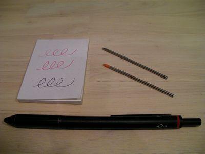 新しいペン先と引退したスタイラス